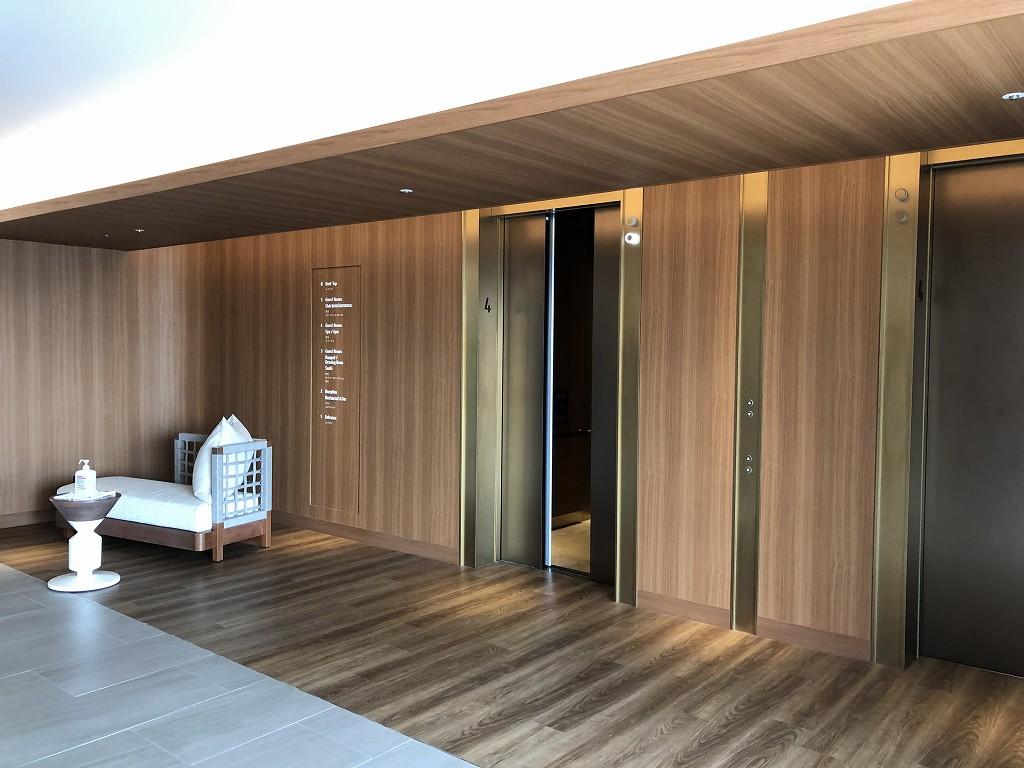 インターコンチネンタル横浜Pier8のエレベーターホール