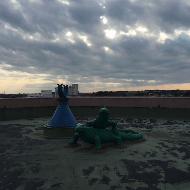 犬吠埼マリンパークの屋上