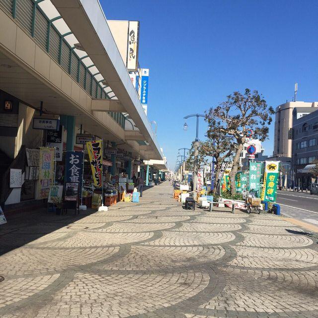 銚子駅前のアーケード