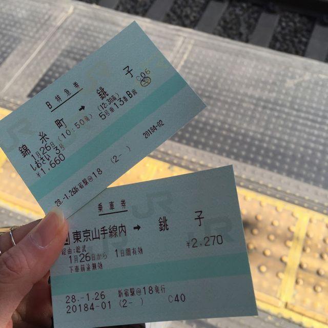 錦糸町から銚子までの切符