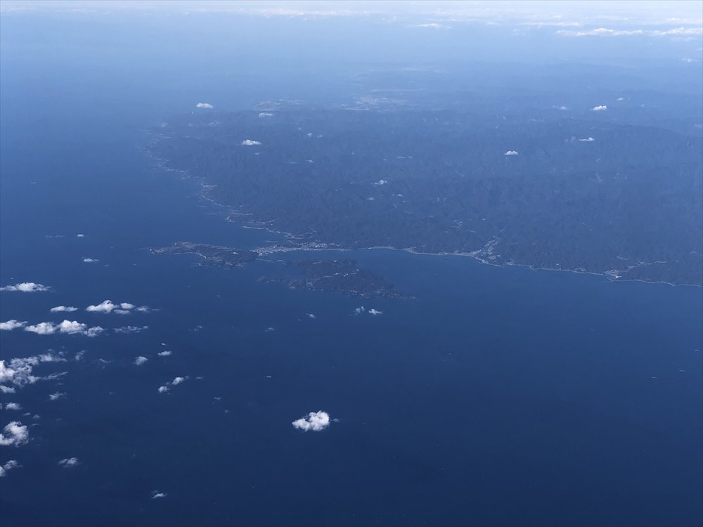 ANA87便からの紀伊大島