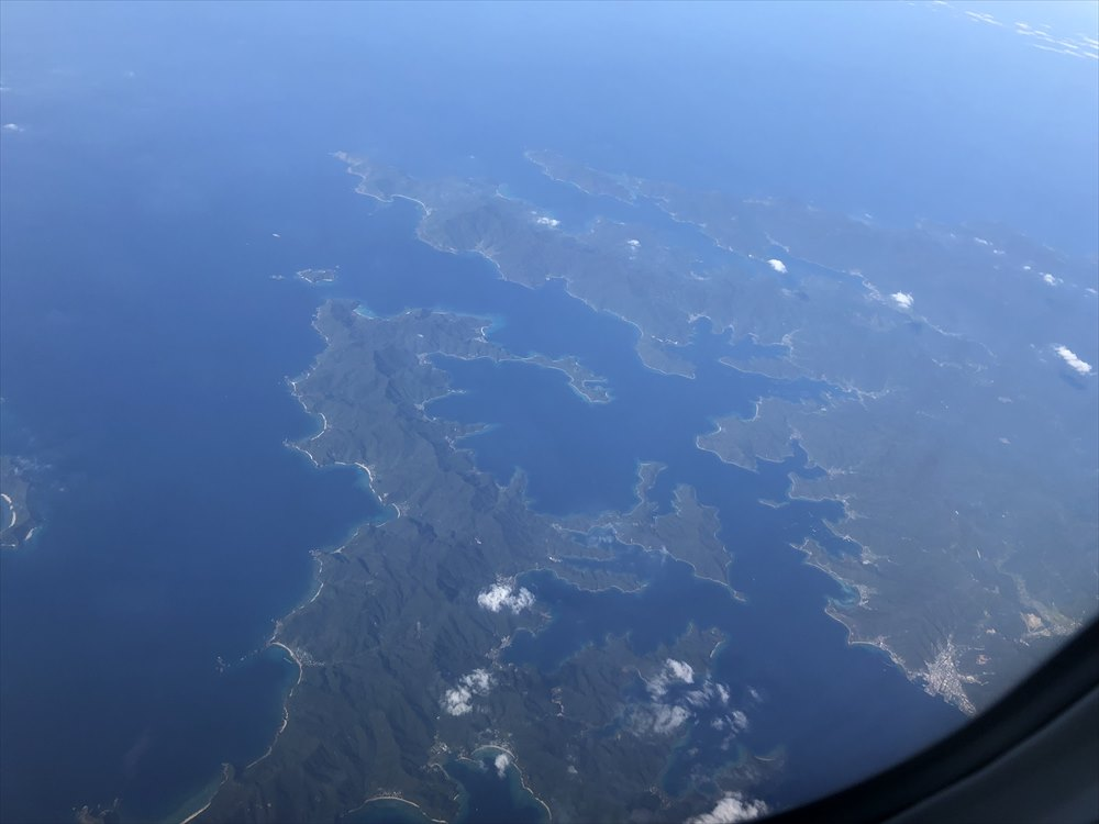 ANA87便からの加計呂麻島