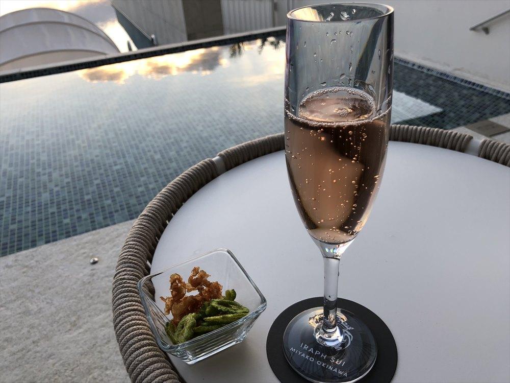 イラフSUIラグジュアリーコレクションホテル沖縄宮古のシャンパンディライト(1日目)1