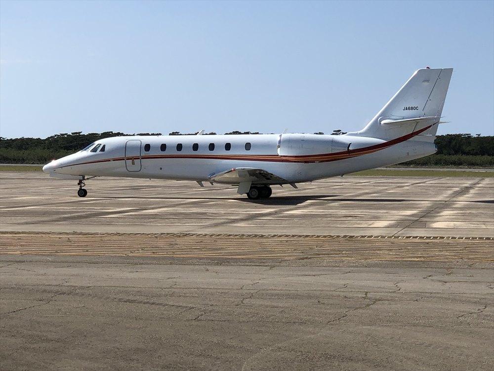 下地島空港のセスナ機2
