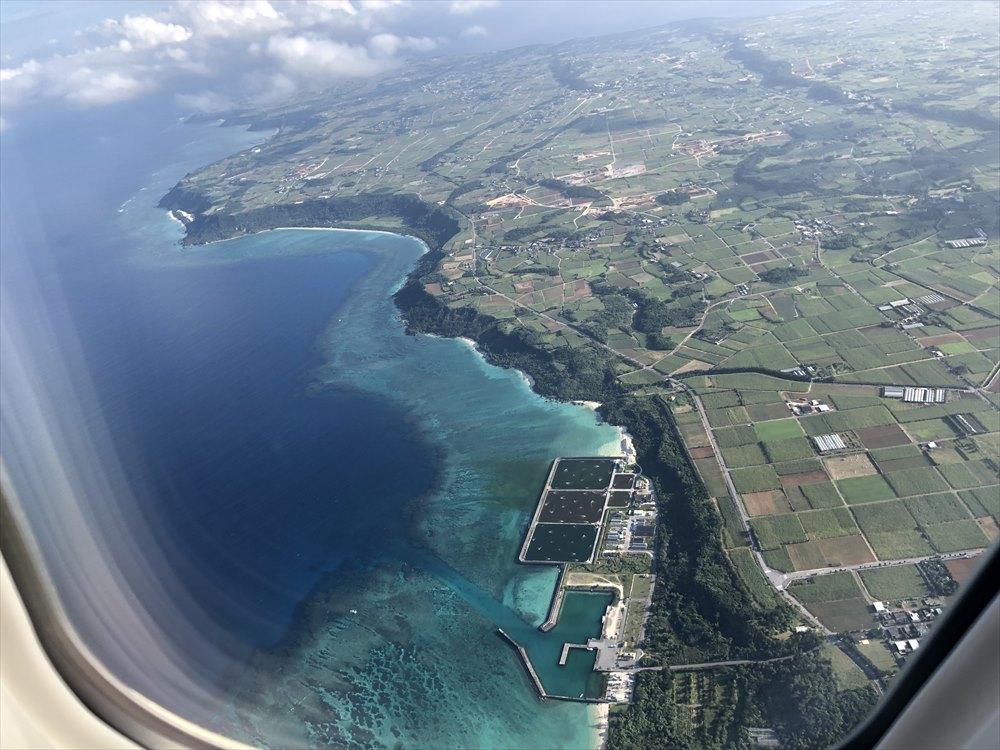 ANA88便からの宮古島