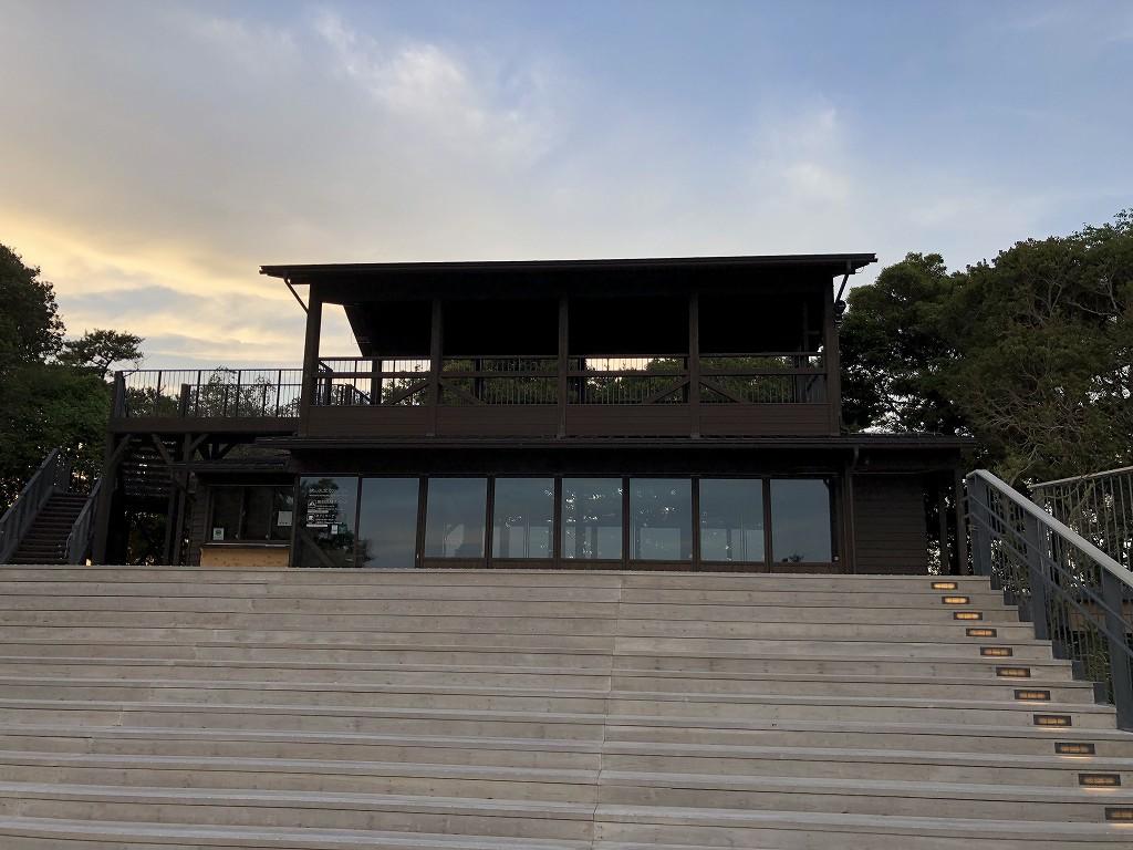 横山展望台のカフェテラス