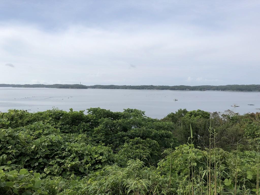 アマネムのナギスイートのベランダからの眺め2