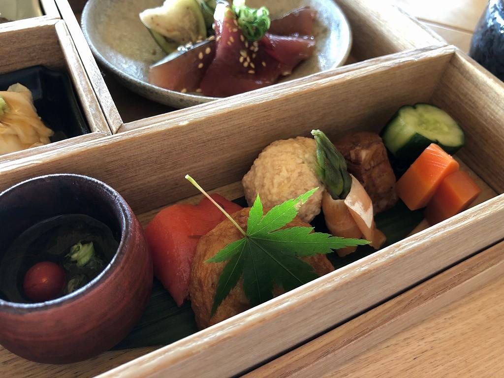 アマネムの和箱朝食の野菜類