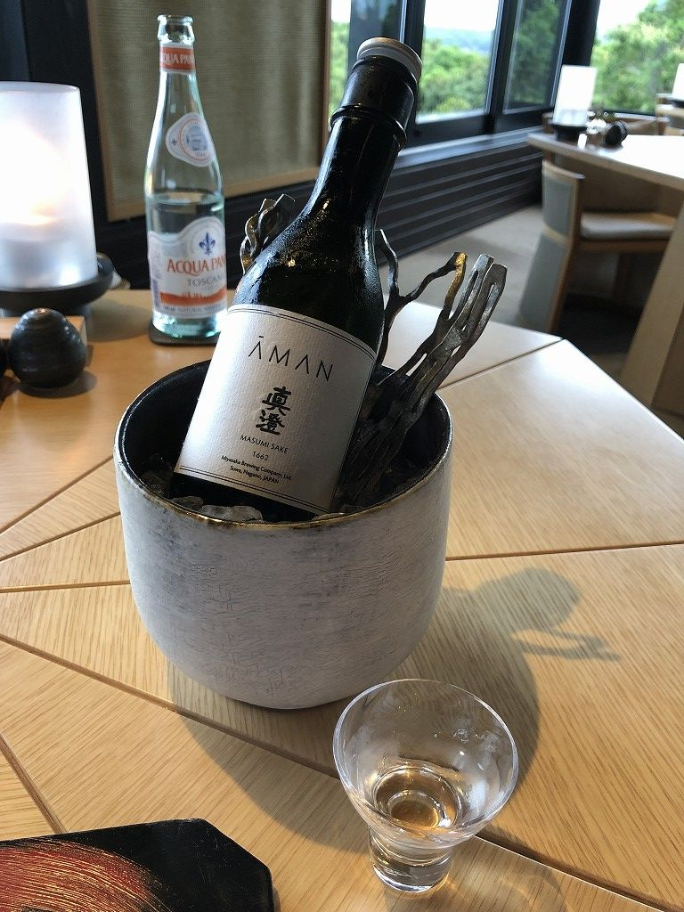 アマネムのダイニング(2日目)の真澄 純米吟醸 アマンオリジナルブレンド