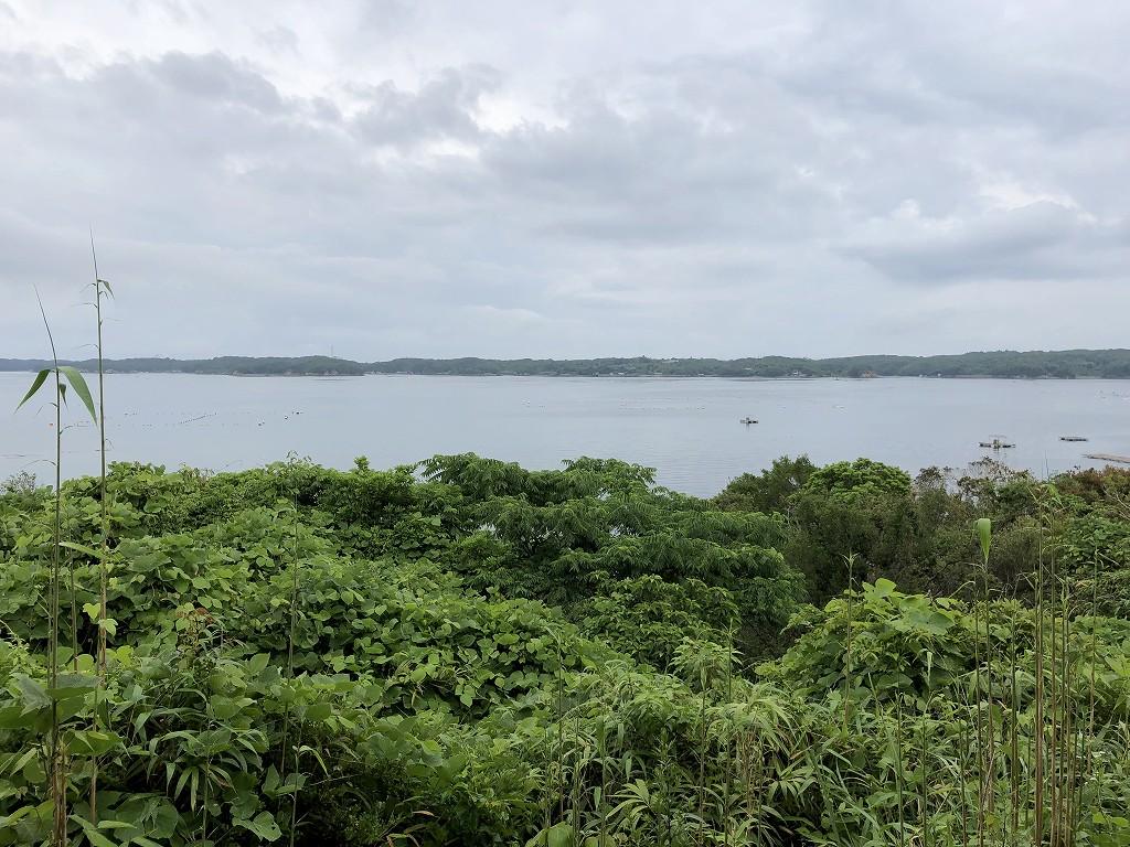 アマネムのナギスイートのベランダからの眺め(曇天)