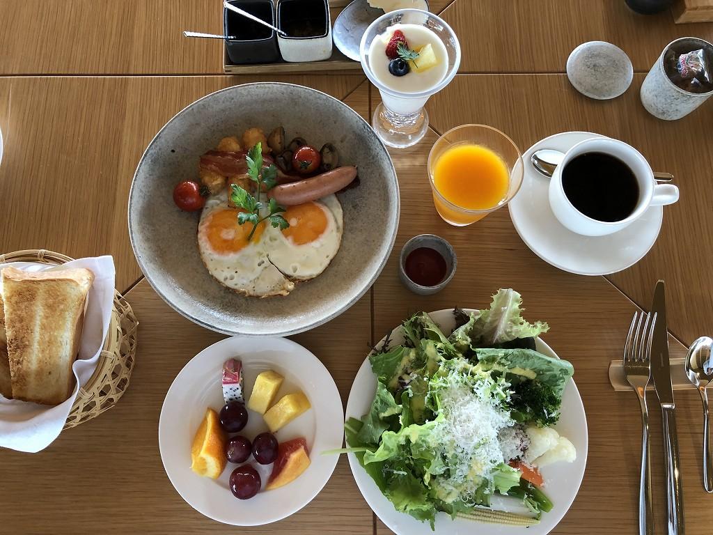 アマネムのダイニングで朝食(アメリカンブレックファスト)4