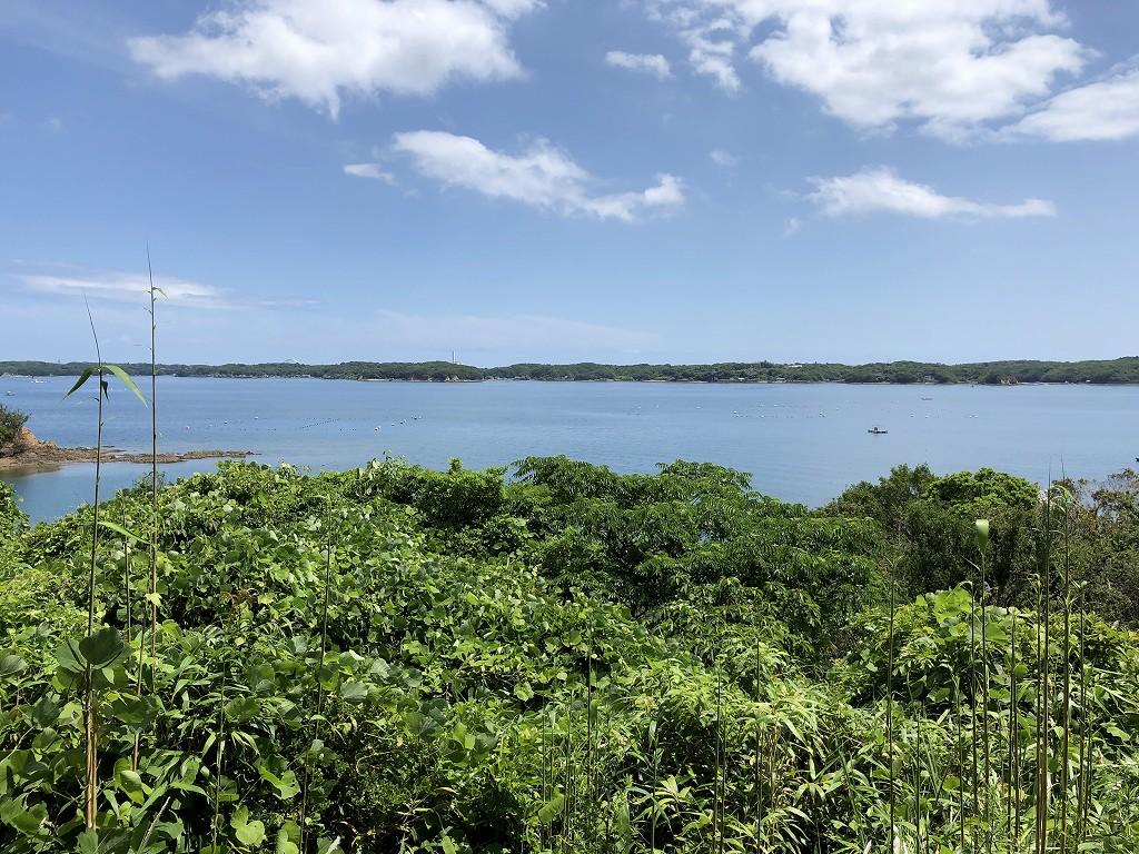 アマネムのナギスイートのベランダからの眺め(晴天)