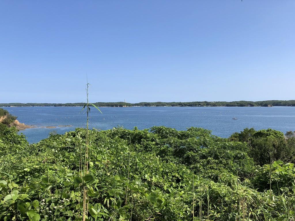 アマネムのナギスイートのベランダからの眺め(快晴)