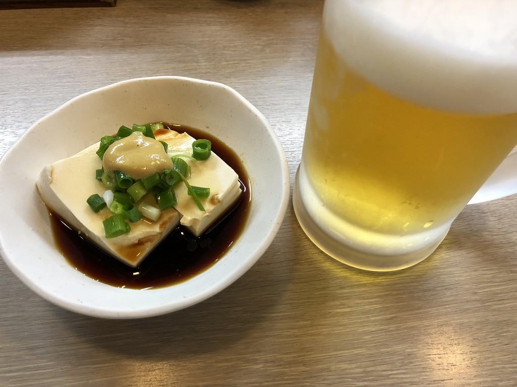 伊勢市の焼き鳥屋「ばんふ」の辛子豆腐