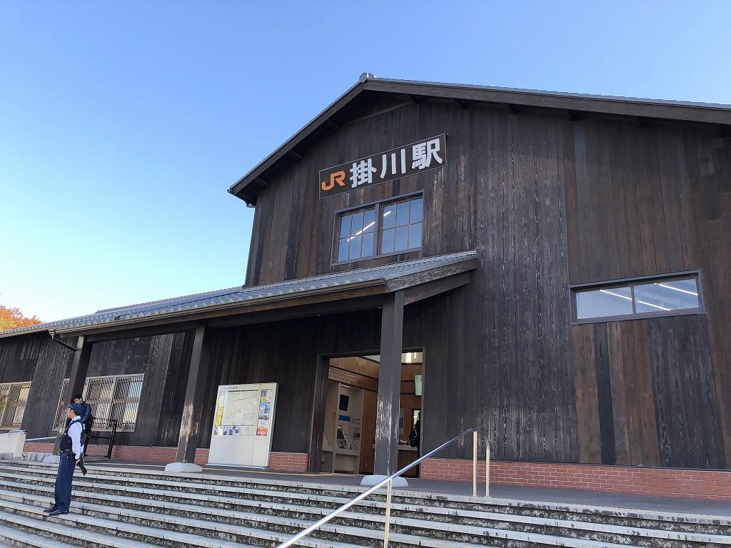 木造の掛川駅舎