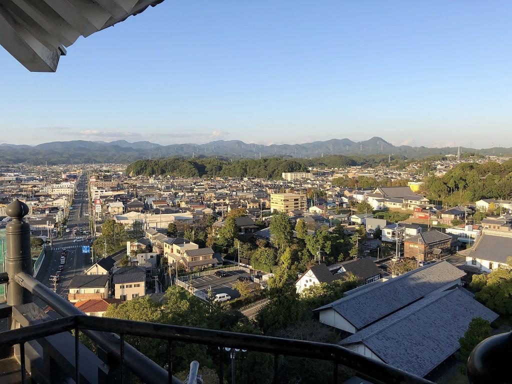 掛川城の天守閣の最上階2