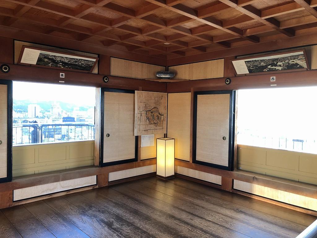 掛川城の天守閣の最上階1