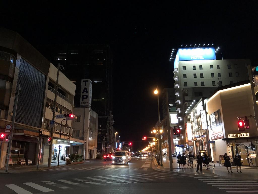 ABホテル磐田の前の道路