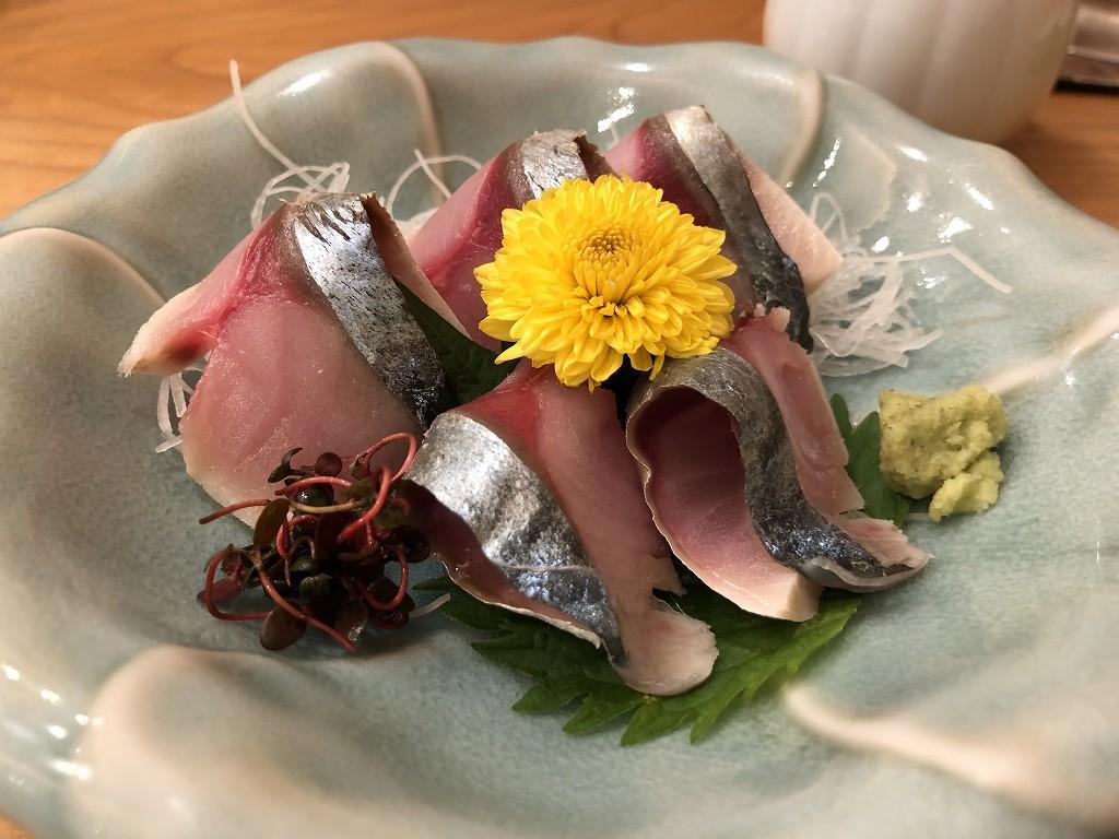 磐田の寿司好のしめ鯖