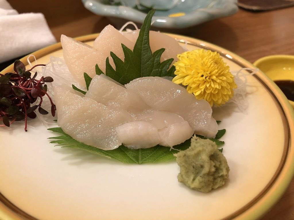 磐田の寿司好のホタテ