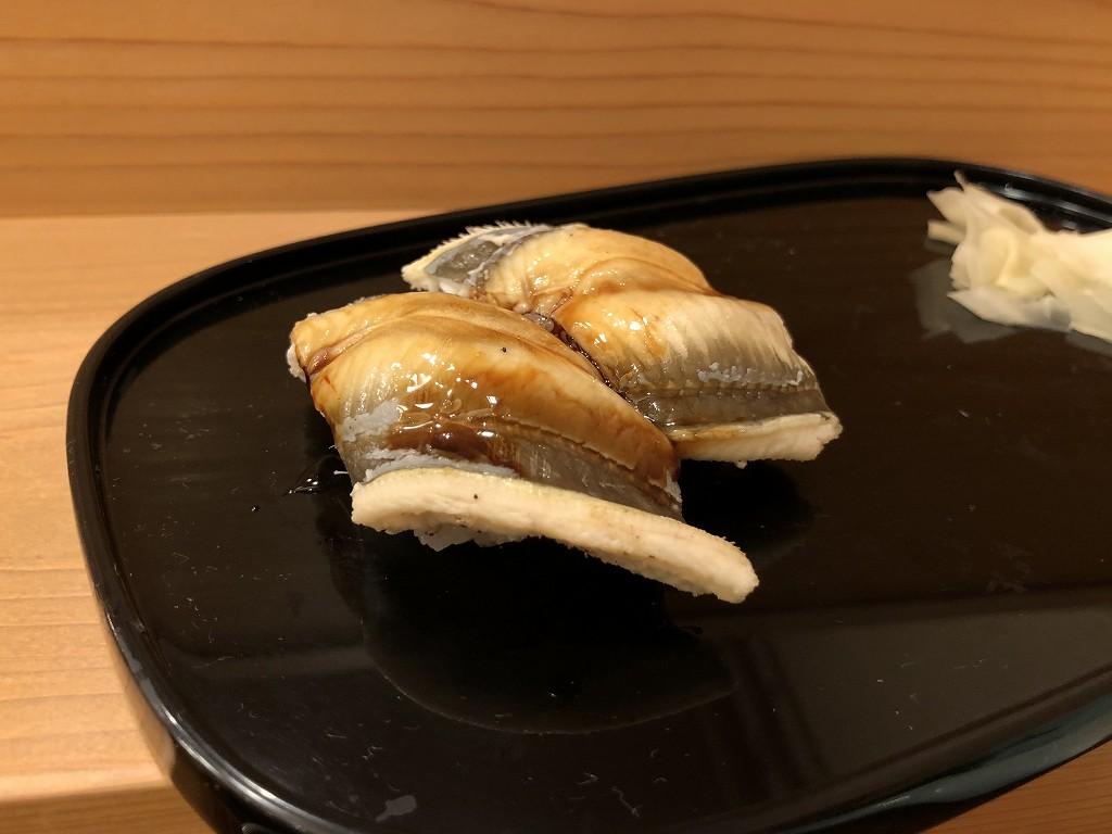 磐田の寿司好の穴子の握り