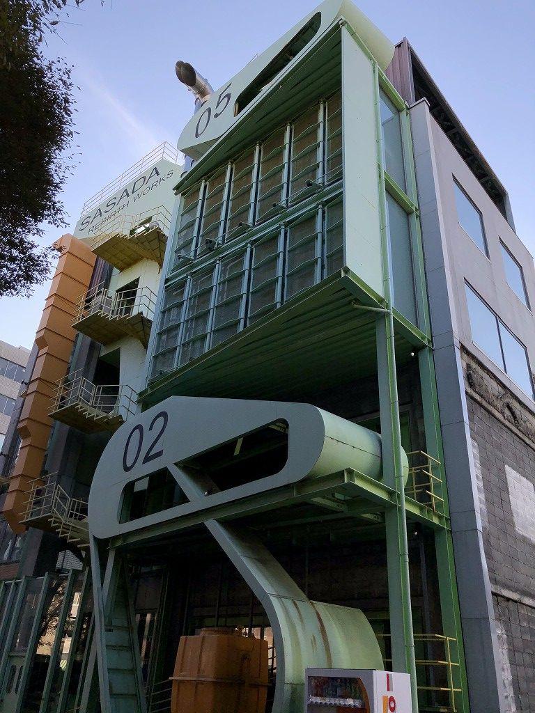 笹田学園デザインテクノロジー専門学校の校舎