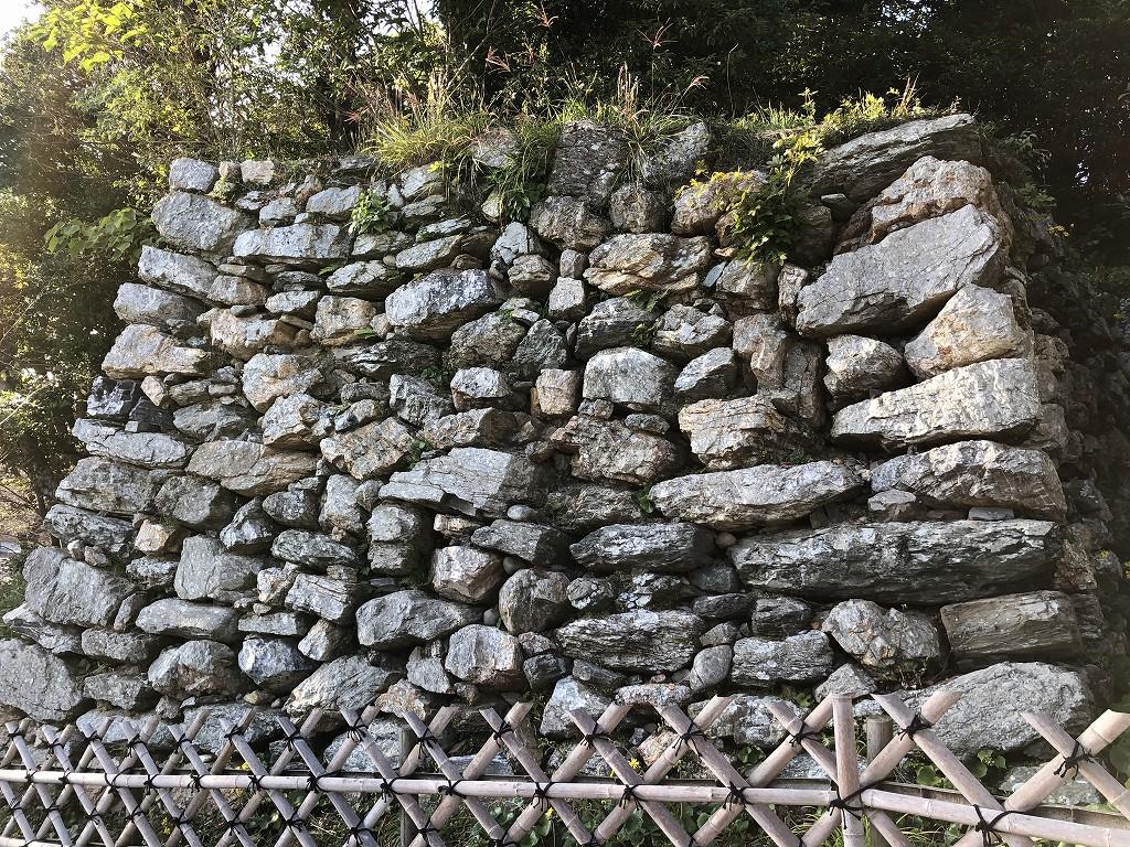 浜松城の野面積みの天守曲輪4