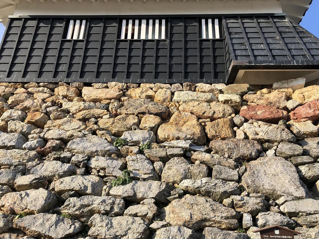 浜松城の野面積みの天守台2
