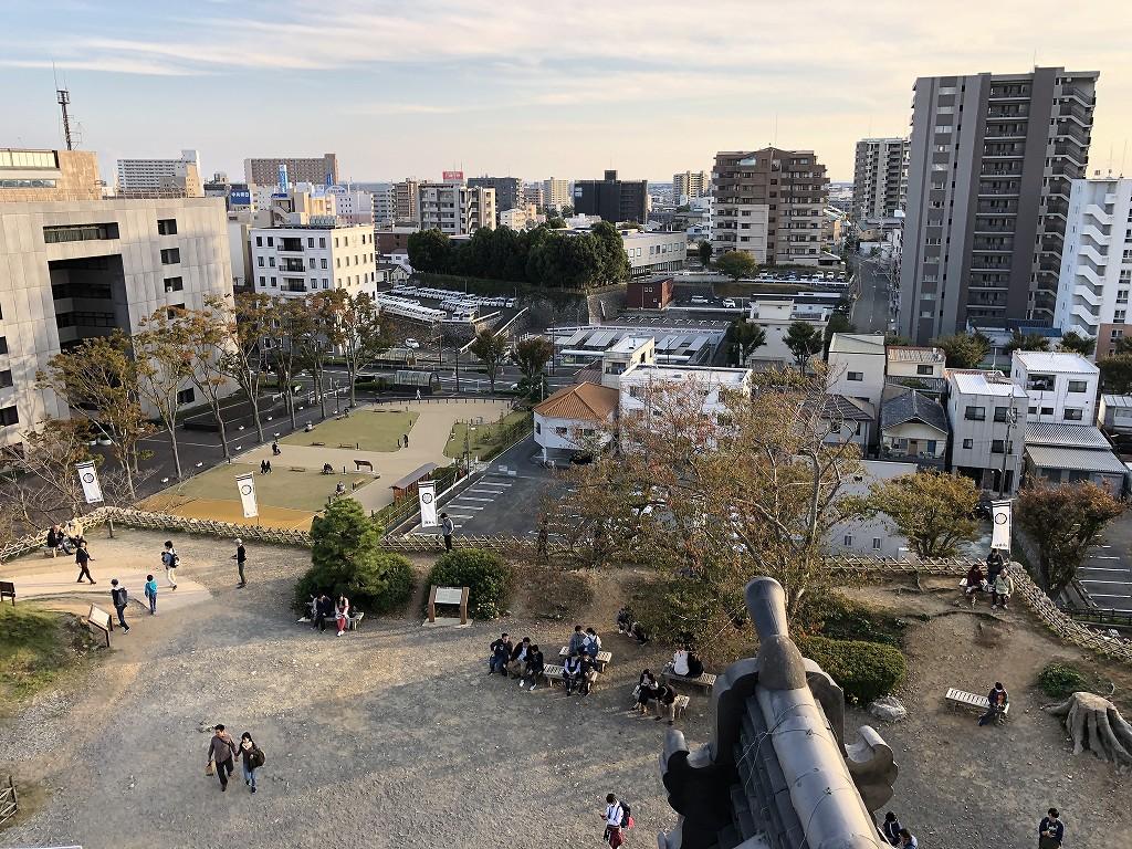 浜松城の天守閣から天守曲輪