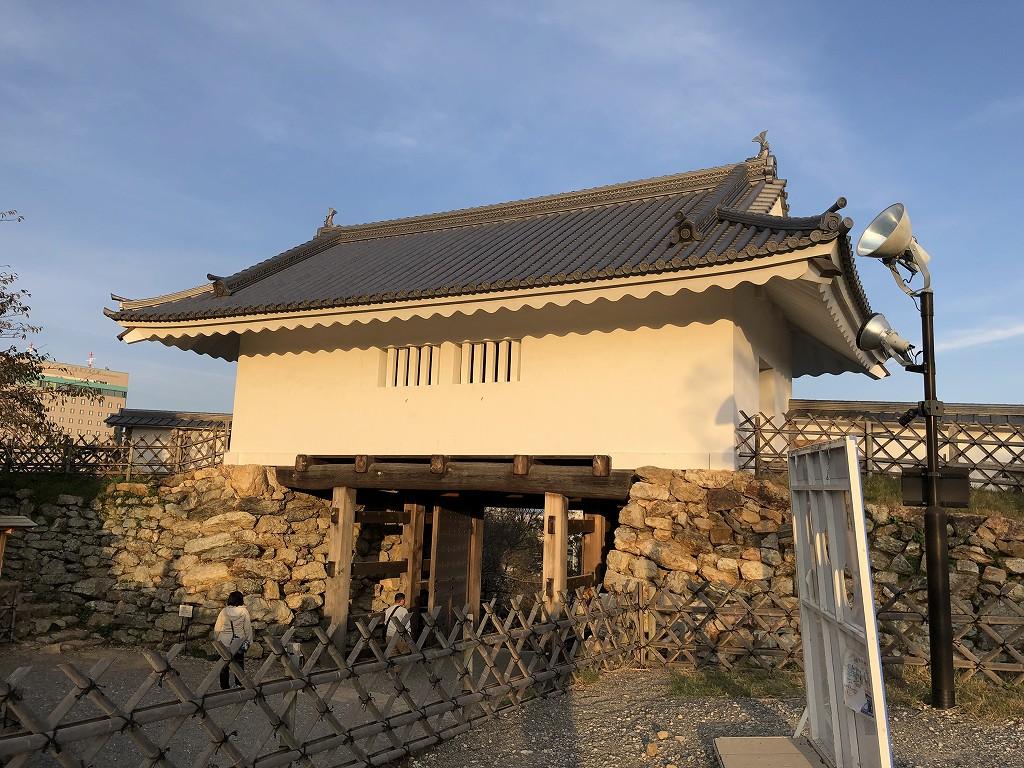 浜松城の天守門の外観