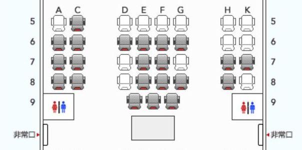 JALクラスJの座席表