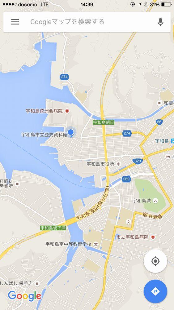 樺崎砲台の地図