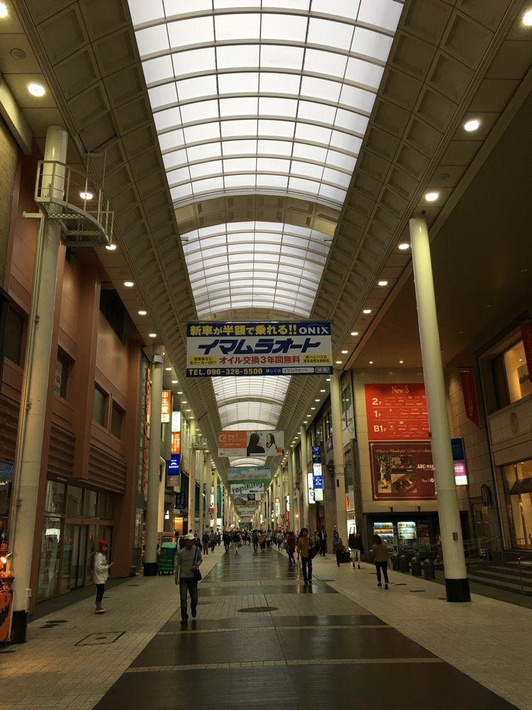 熊本市の上通りアーケード