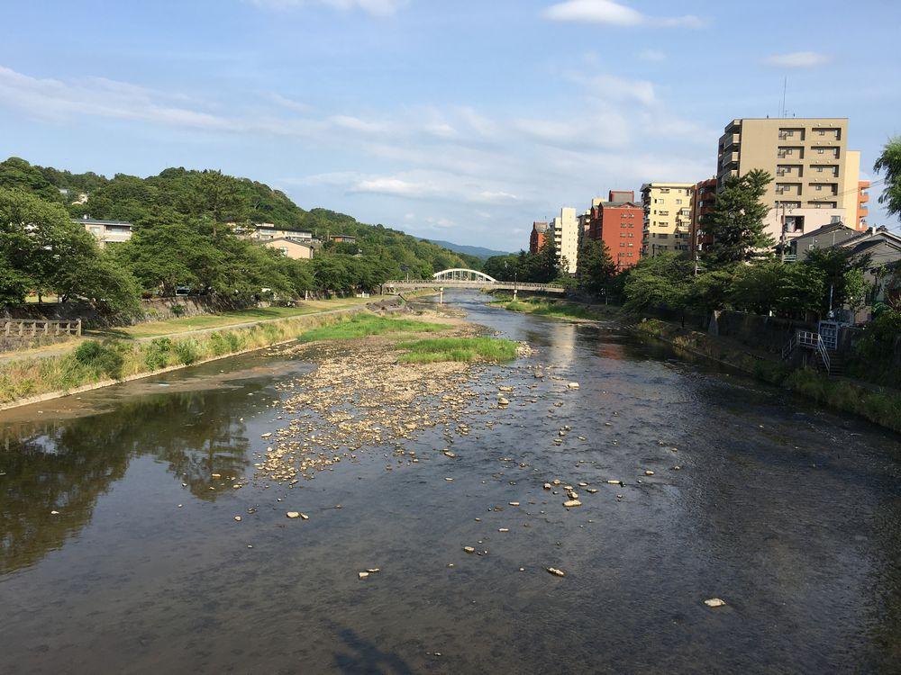 浅野川大橋から上流方面