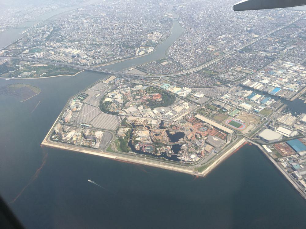 飛行機から見た東京ディズニーリゾート