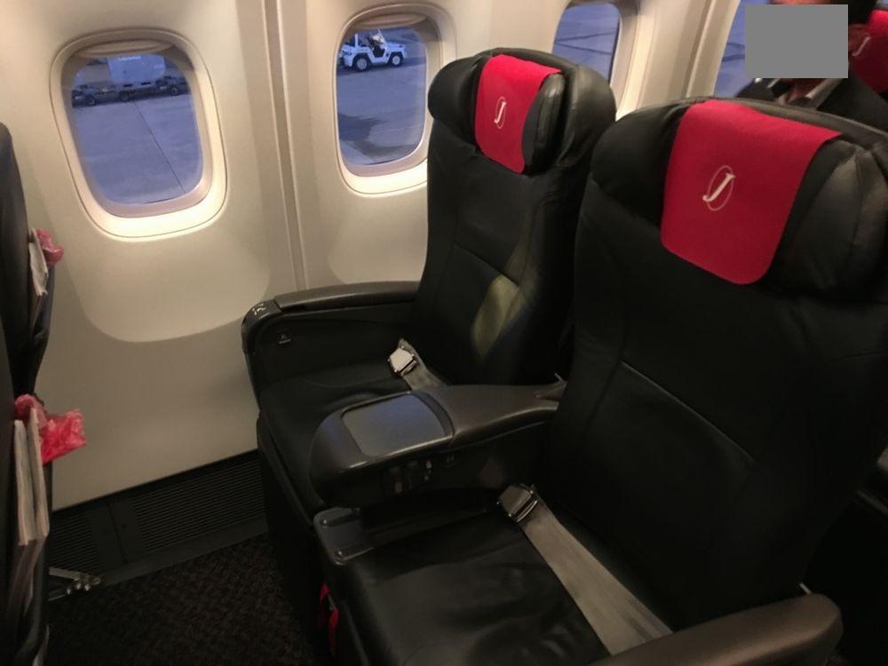 JAL192便(小松-羽田)のクラスJの座席
