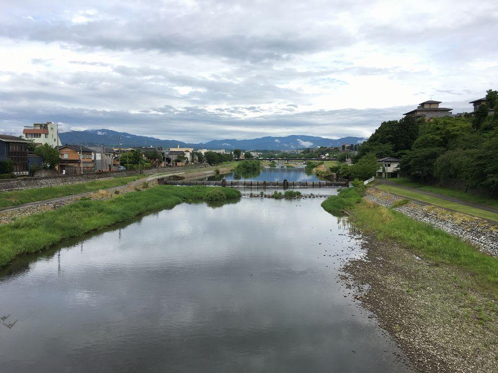 金沢の桜橋から上流方面
