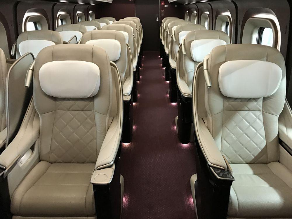 かがやき510号のグランクラスの座席1