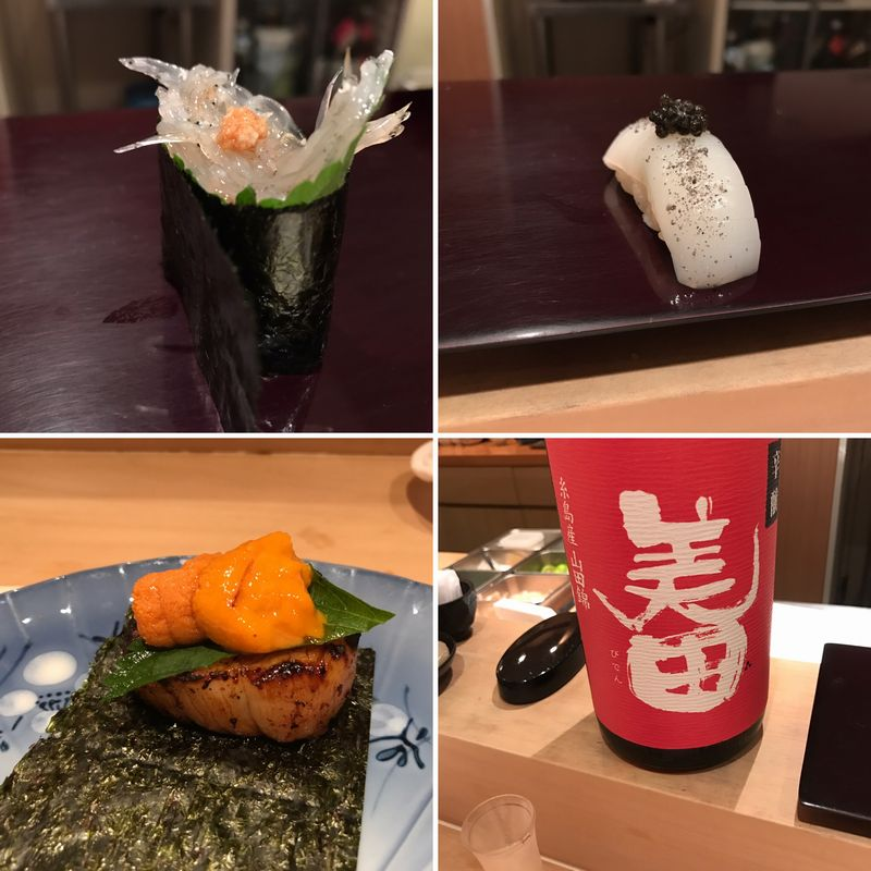 代々木上原の寿司屋「艪」で寿司