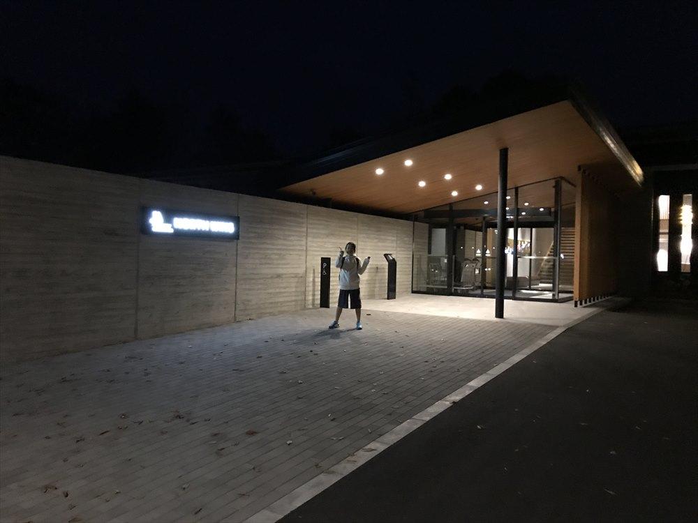 夜の軽井沢マリオットホテルのノースウィング