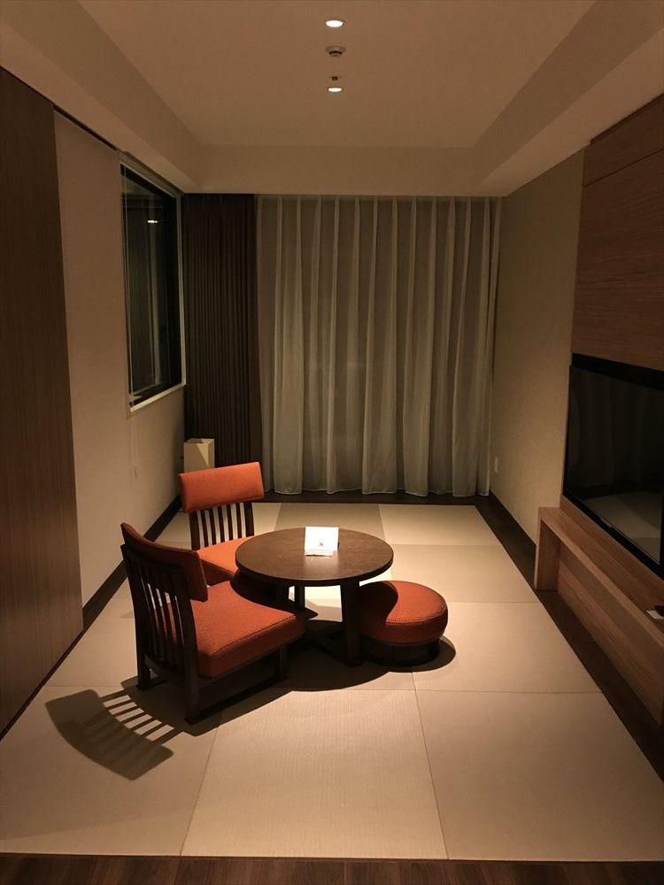 軽井沢マリオットホテルの温泉ビューバス付プレミアルームの和室