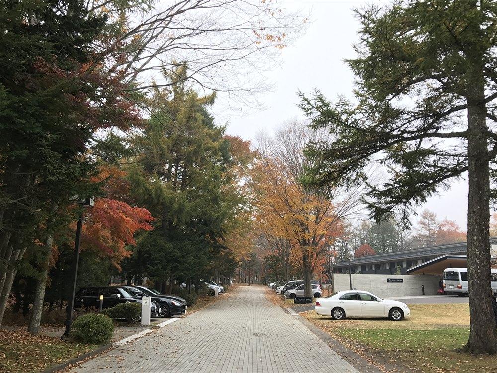 軽井沢マリオットホテルの紅葉