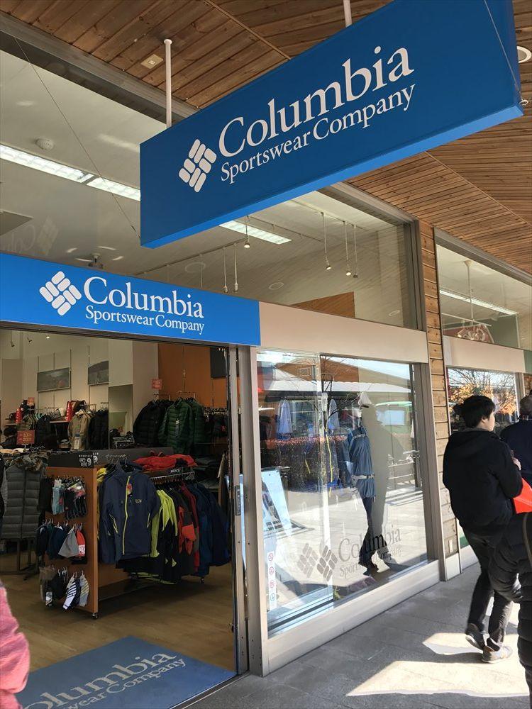 軽井沢プリンスショッピングプラザのコロンビア
