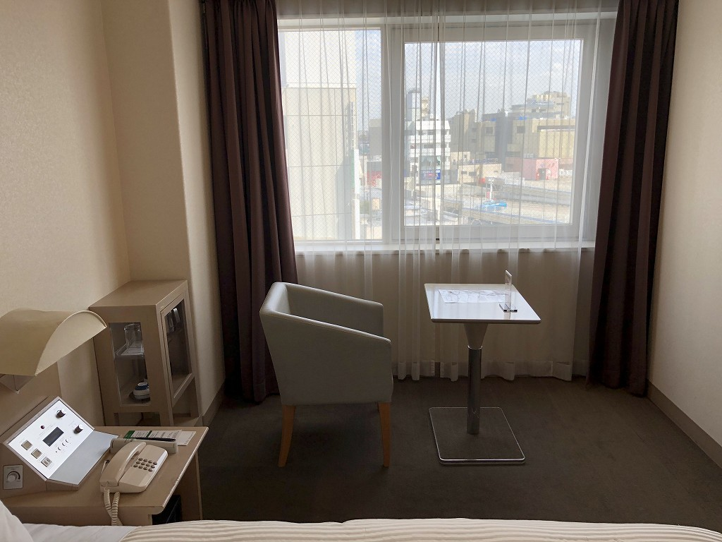 川越プリンスホテルのダブルルームC(窓側)2