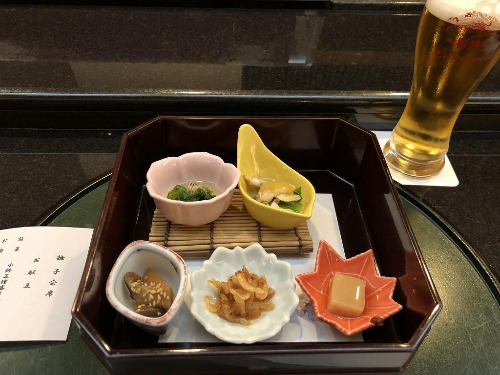 川越プリンスホテル「和食むさし野」のビール