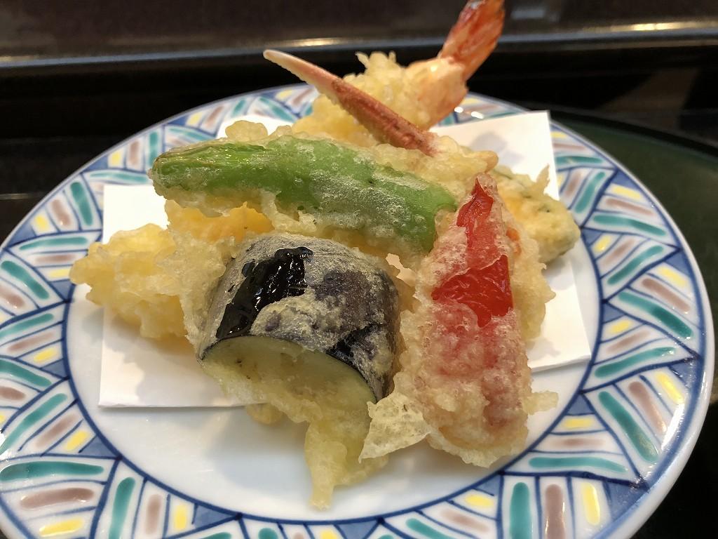 川越プリンスホテル「和食むさし野」の天ぷら