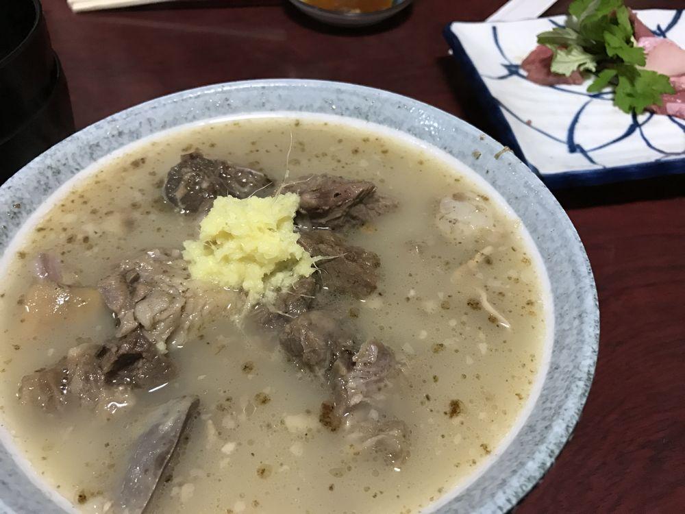 栄町のまるまんの山羊汁(ヒージャー汁)