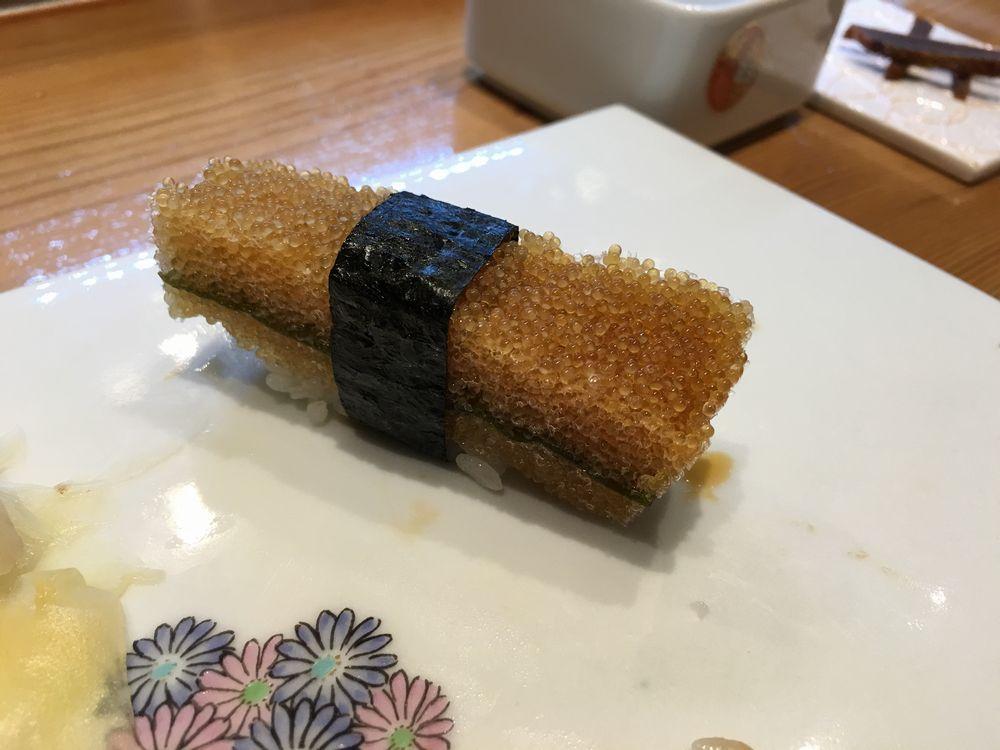熊本・金寿しの子持ち昆布の表面