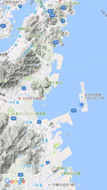 北九州空港のGoogle Map