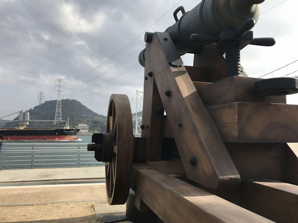 関門海峡の砲台